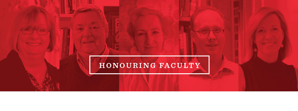 Faculty members who will receive awards at convocation 2016