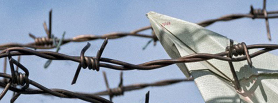barbed wire and paper