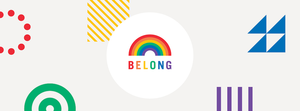 Rainbow with Belong statement