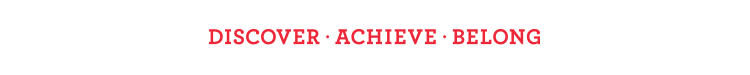 Discover Achieve Belong - Red