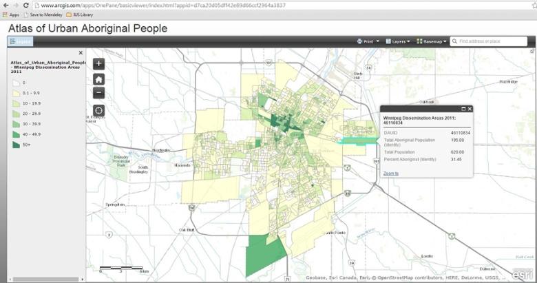 Atlas Of Urban Aboriginal People Ius The University Of Winnipeg