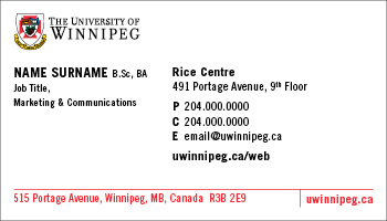 Business card order form printing the university of winnipeg business card sample 1 reheart Images
