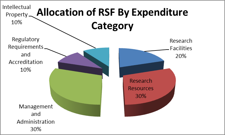 Allocation of RSF funding by expenditure category graphic
